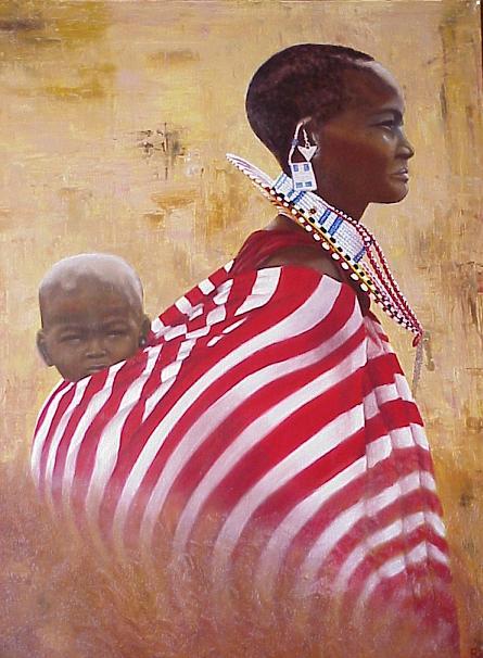 Fabulous Schilderijen Afrika | Ria Marks-Emmen &RN73