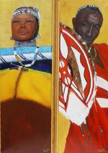 2-luik manen vrouw Afrika