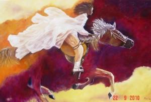 Amazone op paard