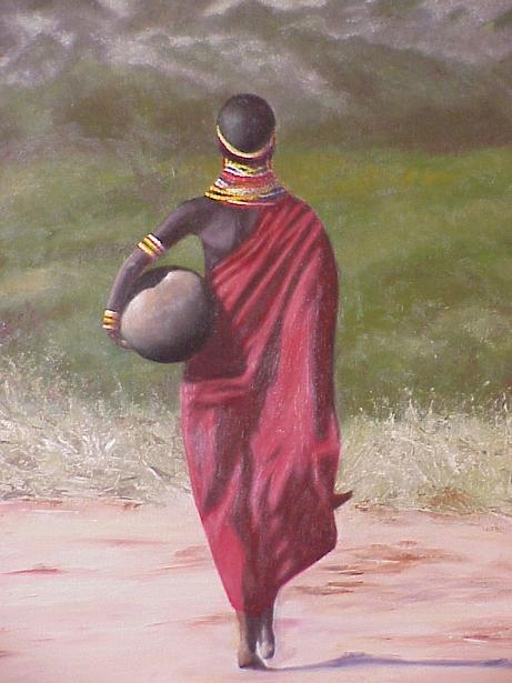 Extreem Schilderijen Afrika | Ria Marks-Emmen &AO66