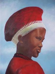 vrouw hoed